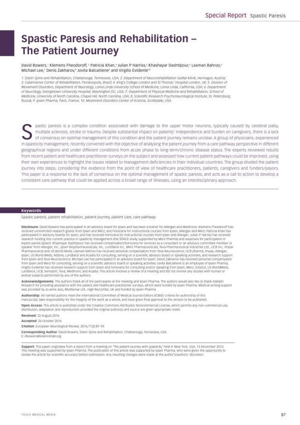 European Neurological Review - Supplement